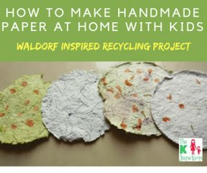 How To Make Handmade Paper From Recycled Scraps With Kids – DIY Tutorial