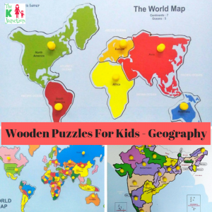 Wooden Knobbed Puzzles – Geography For Kids – Review